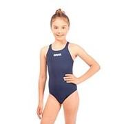 Купальник спортивный Arena Solid Swim Pro Jr арт.2A26375 р.12-13 Navy/white фото