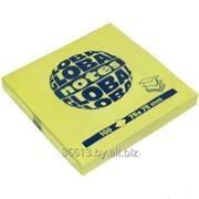 Бумага для заметок GLOBAL NOTES 75 х 75 мм 100л цвет желтый фото