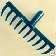 Грабли 12-ти зубые прямые, эмаль 3мм. б/ч ГП-12 (с увеличенным радиусом) фото