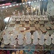 Хрустальные шахматы фото