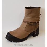 Бежевые женские ботинки Alpino 4055 фото