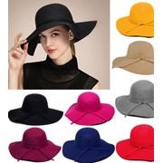 Шляпа широкополая (черная) фото
