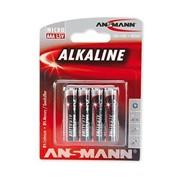 Батарейка Ansmann Alkaline red AAA, LR03, LR3, AM4, MN2400 1.5V 4 шт (5015553) фото