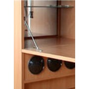 Холодильники-бары в деревянном корпусе фото