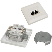 Розетка 2xRJ45 кат.5E UTP, неэкранированная Compact Outlets 80х80 мм фото