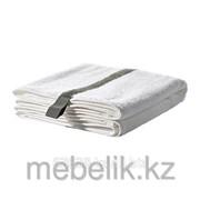 Банное полотенце белый, темно-серый ФЭРГЛАВ фото