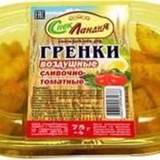 """Гренки воздушные """"СнекЛандия"""", сливочно-томатные, 75гр фото"""