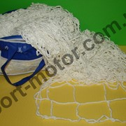 Сетка футбольная (полиэстер, р-р 7,24*2,23м, ячейка р-р 15*15см) фото