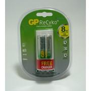 Зарядное устройство GP 211+210AA ReCyko USB фото