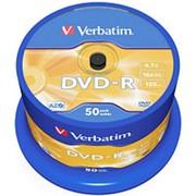 Оптический диск DVD-R 4.7 Гб Verbatim в тубе 50шт. фото