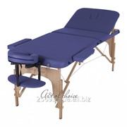 Стол массажный деревянный DEN Comfort синий фото