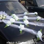 Свадебные украшения на кортеж фото