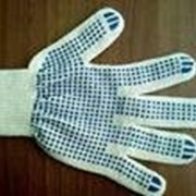 Перчатки с ПВХ точкой 600 гр. фото