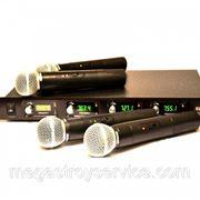 Профессиональная радиосистема SHURE U 8888 (4 микрофона) фото