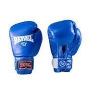 Перчатки боксерские Reyvel RV-101 14 унций синие фото