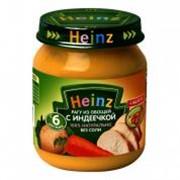Пюре ХАЙНЦ (HEINZ) овощи с индеечкой рагу с 6 мес. 120 г фото