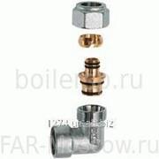 "Угольник 1"" ВР - концовка для металлопластиковых труб 26х3, хромированный, артикул FC 5311 1 220218 фото"