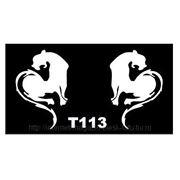 Трафарет для временных тату размер 16*9см(Т113) фото