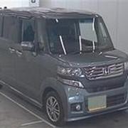 Микровэн турбо HONDA N BOX + CUSTOM кузов минивэн модификация G TURBO PG WELLFARE гв 2012 пробег 82 т.км серый фото