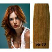 Славянские волосы. 100 прядей. Длина 45 см. Оттенок Золотисто-каштановый — оттенок №30 фото