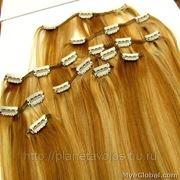 Натуральные славянские волосы на заколках набор 60 см фото