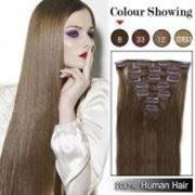 Азиатские волосы на заколках 60 см Русый фото
