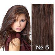 Славянские волосы. 100 прядей. Длина 45 см. Оттенок Коричневый (шоколад) №5 фото