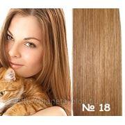 Славянские волосы. 100 прядей. Длина 45 см. Оттенок Золотисто русый №18 фото