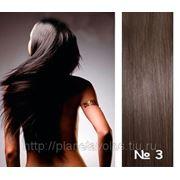 Славянские волосы. 100 прядей. Длина 45 см. Оттенок Темно-коричневый №3 фото