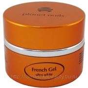 Гель Planet Nails — Ultra White French Gel ультра-белый густой вязкости 5г фото