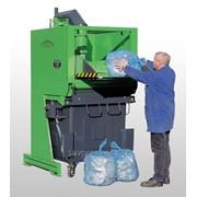 Ротокомпактор, прессование в контейнере, пресс для мусора, прессустановка фото