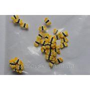 Фимо нарезка бабочки желтые (50шт).№36 фото