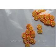Фимо нарезка фрукты Апельсин(50шт).№6 фото