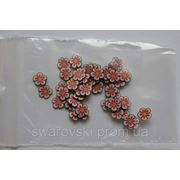 Фимо нарезка цветы розовые(50шт).№58 фото