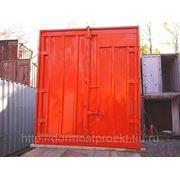 Контейнер 5тн металлический б\у порожний (продажа, аренда, контейнерная перевозка) фото