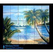 Яхта пляж пальмы-PSC-520