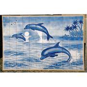 Керамическое панно дельфины, море,чайка-mocdec-9 фото