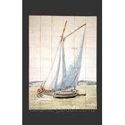 Яхта керамическое панно фото