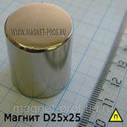 Неодимовый магнит 25х25мм. фото