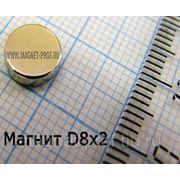 Магнит для сувениров 8х2 мм. фото