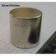 Неодимовый магнит 30х30мм. фото
