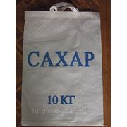 Мешок белый полипропиленовый 350х500 с пришивными ручками фото