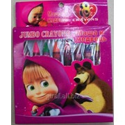 Цветные карандаши - мелки Маша и Медведь JQ1008 фото