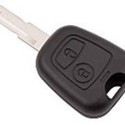 Корпус ключа зажигания для PEUGEOT, 2 кнопки, лезвие NE73 фото