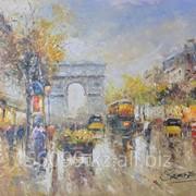 """Картина """"Парижские улочки"""" 61х91 фото"""