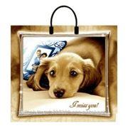 Пакет подарочный полиэтиленовый I miss You фото