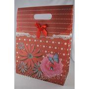 Пакет подарочный 31х24см | пакеты подарочные пластиковые | подарочная упаковка | фото