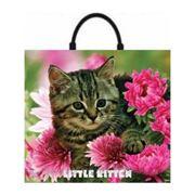 Пакет подарочный полиэтиленовый Little Kitten фото