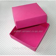 Коробка подарочная 80х80х30мм, цвет в ассортименте фото