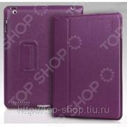 Чехол для iPad 2/ iPad new Yoobao Lively Leather Case. Цвет: фиолетовый фото